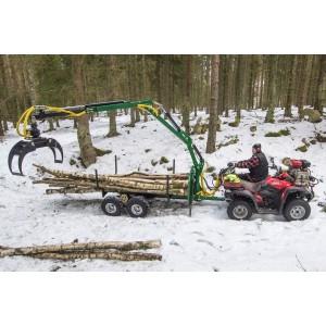 ATV Metsaveohaagis 4,2m tõstukiga ja ratta veoga